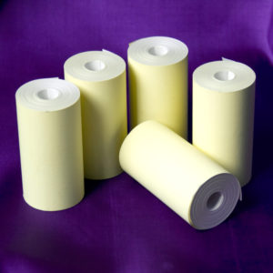 57 x 30 Coreless Thermal Roll (Yellow)-0