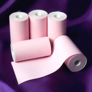 57 x 30 Coreless Thermal Roll (Pink)-0