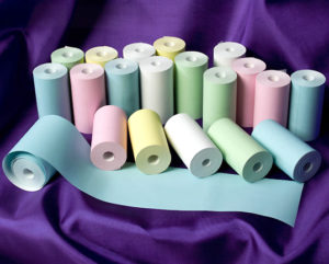 57 x 30 Thermal Roll Blue, Green, Pink, Yellow-0