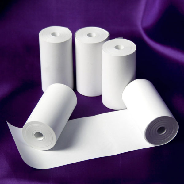 57 x 26 Coreless Thermal Roll - White-0