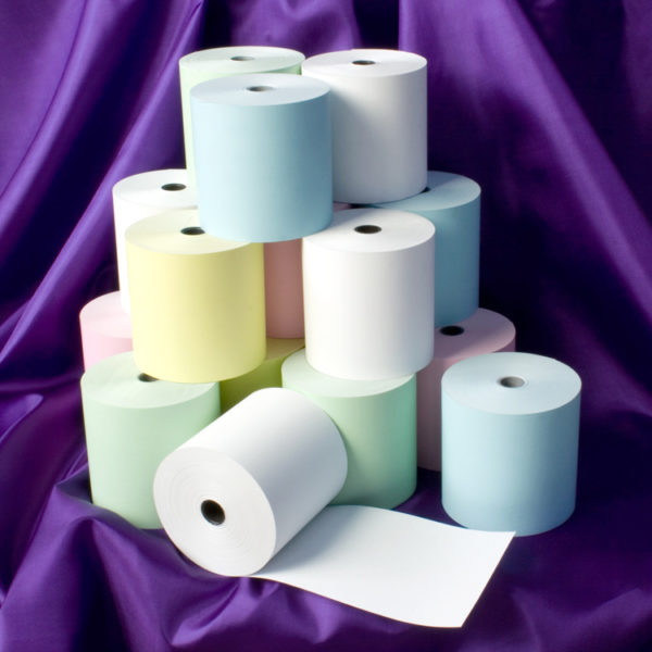 80 x 80 Thermal Roll Blue, Green, Pink, Yellow-0