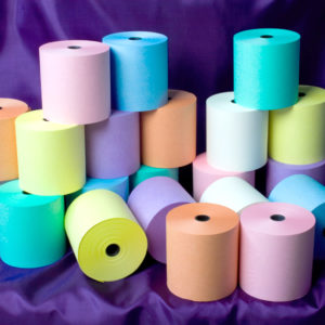 76 x 76 Laundry Rolls Blue, Green, Mauve, Orange, Pink, White, Yellow-0